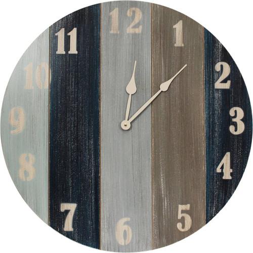 Nantucket Wall Clock with Nautical Stripes