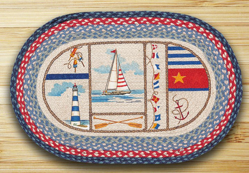 Nautical Breeze Oval Patch Rug