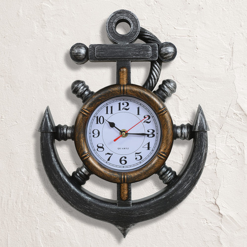 Nautical Bronze Anchor Wall Clock