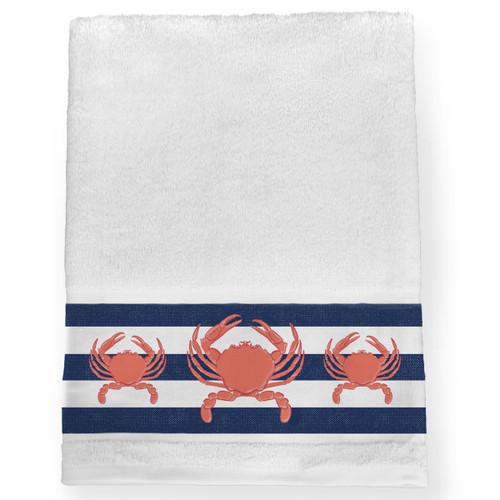 Nautical Crab Bath Towel
