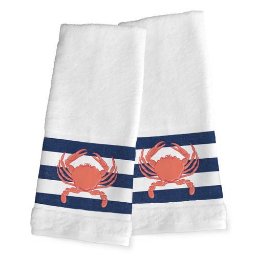 Nautical Crab Hand Towels - Set of 2