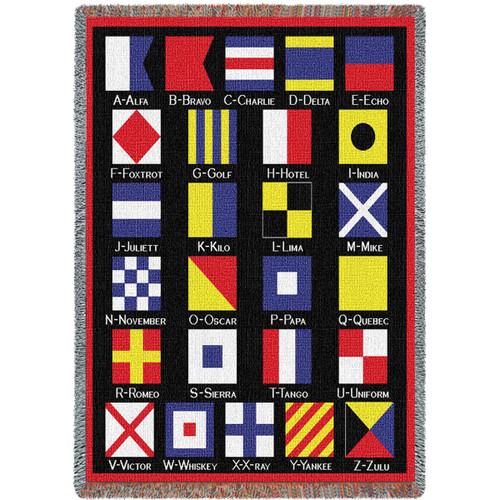 Nautical Flags Blanket