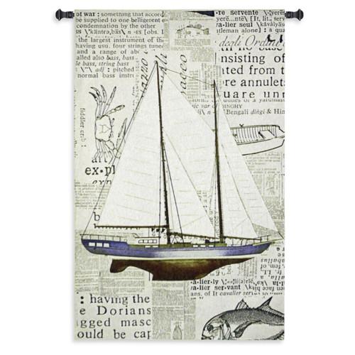 Nautical Motif Wall Tapestry