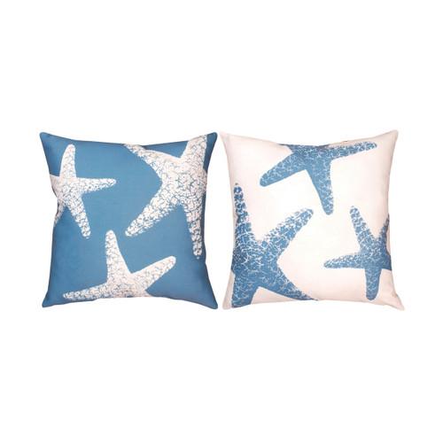 Nautical Nonsense Starfish Reversible Climaweave Pillow