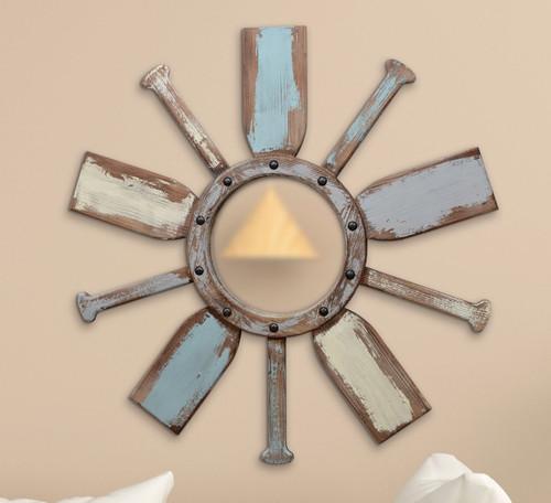 Nautical Paddle Wall Mirror