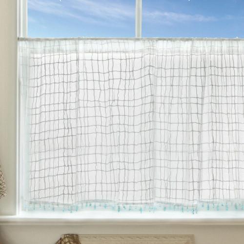 Seaside Breeze Lace Window Treatments