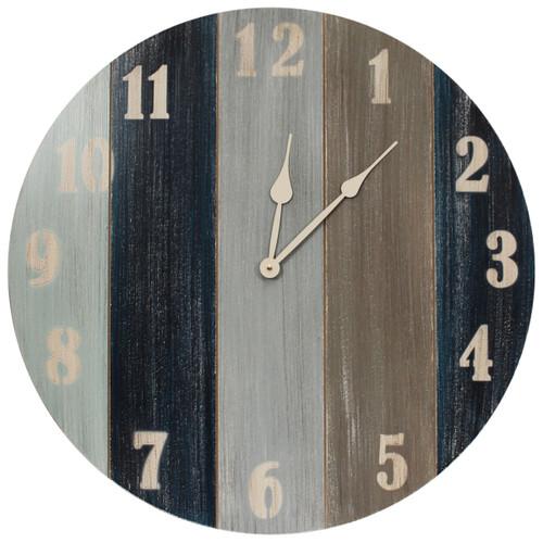 Nautical Slatted Stripe Wall Clock
