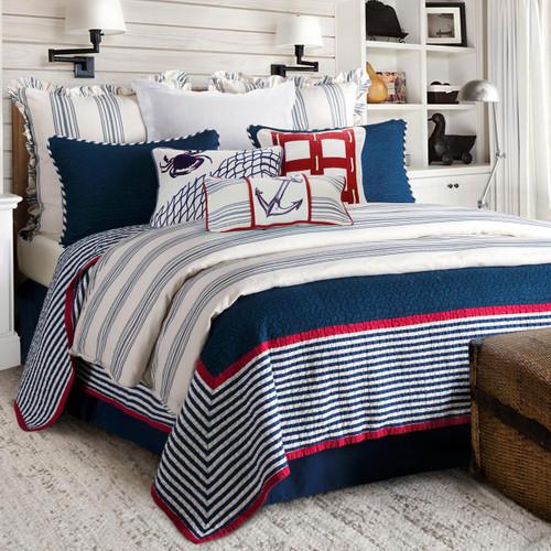 Nautical Stripes 2 Piece Quilt Set - Twin