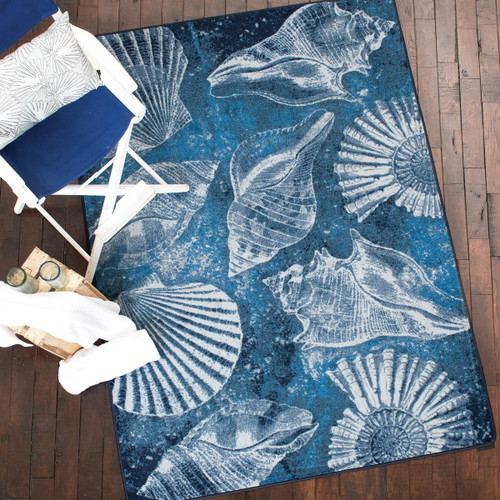Shell Island Ultramarine Rug Collection