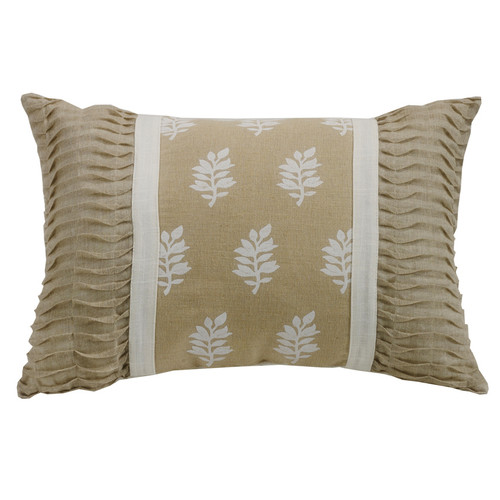 Newport Oblong Pillow with Pintucked Ends