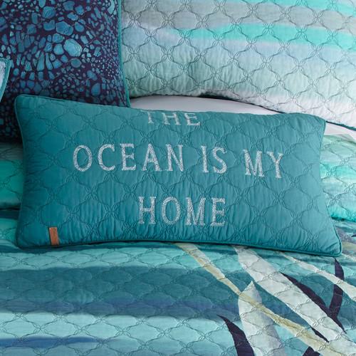 Ocean Blue Rectangle Pillow