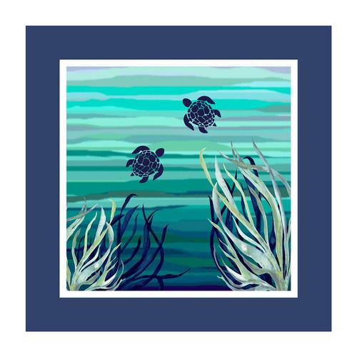 Ocean Blue Throw