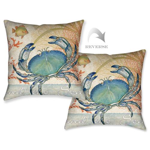 Ocean Crab Pillow