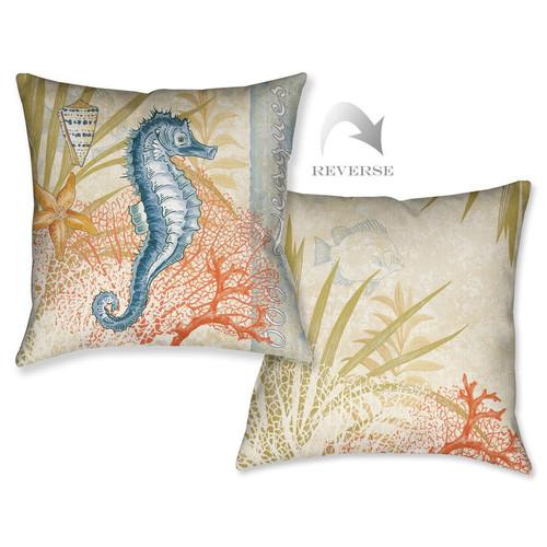 Ocean Seahorse Pillow