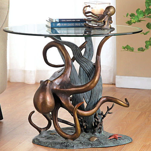 Octopus & Seagrass End Table - BACKORDERED UNTIL 11/23/2021