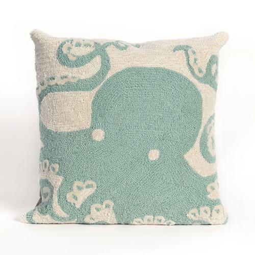 Octopus Aqua Indoor/Outdoor Pillow