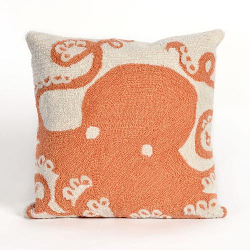 Octopus Coral Indoor/Outdoor Pillow