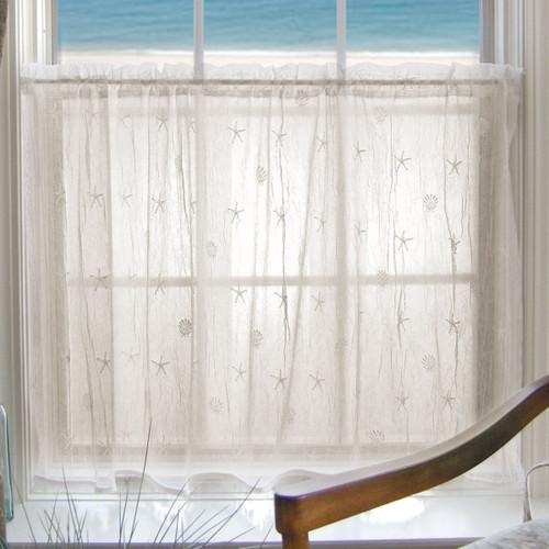 Starfish Shells Lace Window Treatments