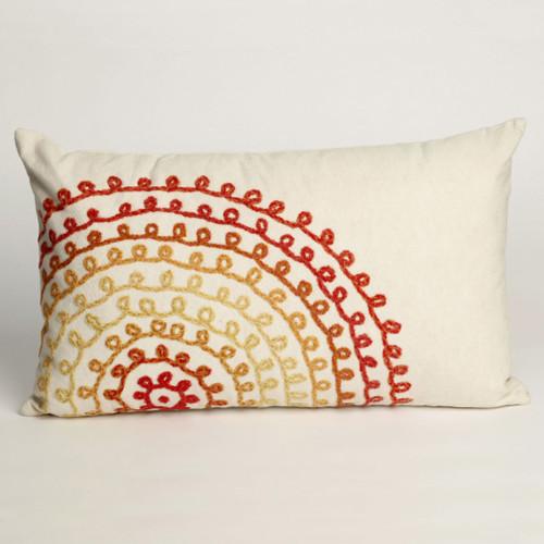 Ombre Threads Warm Pillow - 12 x 20