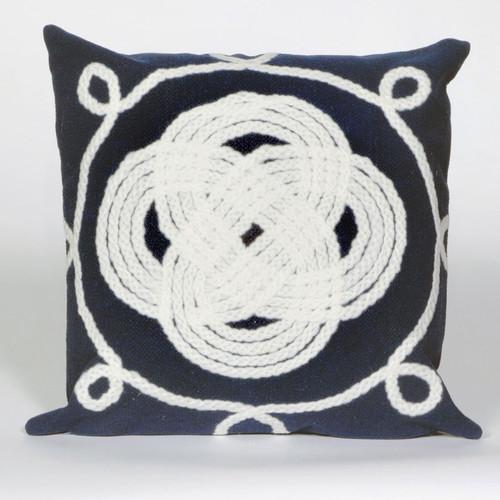 Ornamental Knot Navy Pillow - 20 x 20