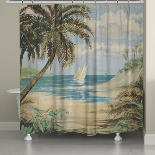 Palm Bay Shower Curtain