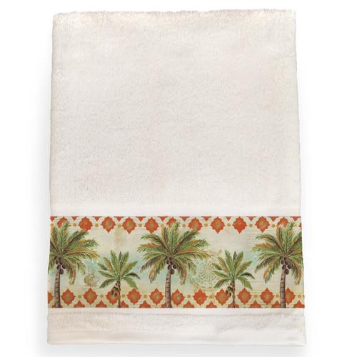 Palm Tile Bath Towel