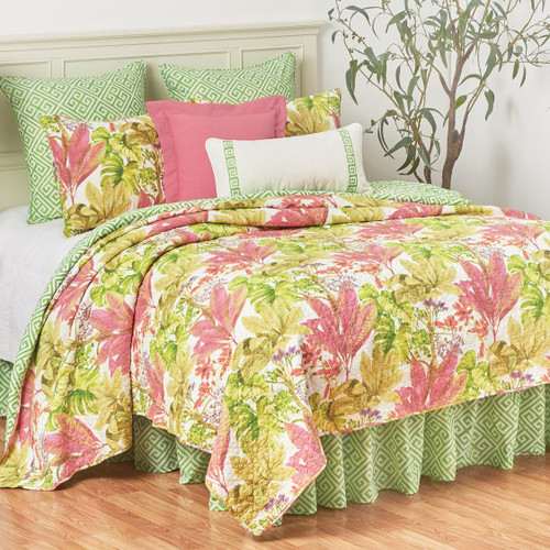 Tropical Foliage Quilt Bedding Collection