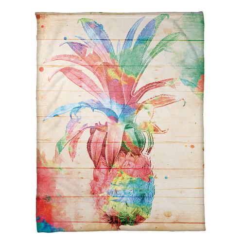 Pineapple Dream Fleece Throw