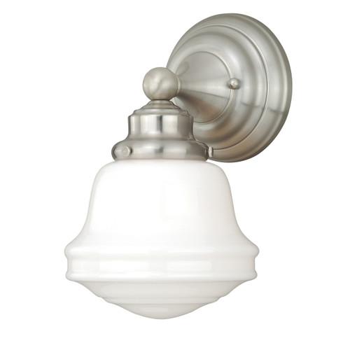 Plantation 1 Light Vanity Lamp - Satin Nickel