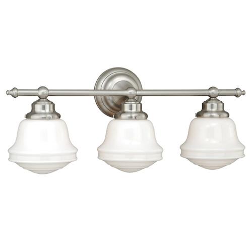 Plantation 3 Light Vanity Lamp - Satin Nickel