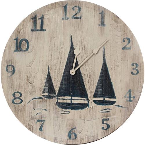 Sailboat Trio Wall Clock