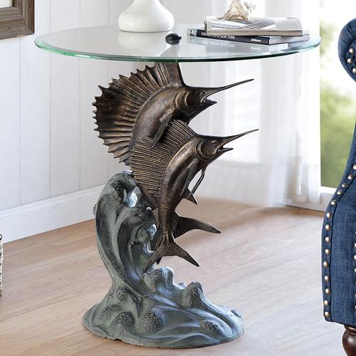 Sailfish & Marlin Dance End Table - BACKORDERED UNTIL 11/23/2021