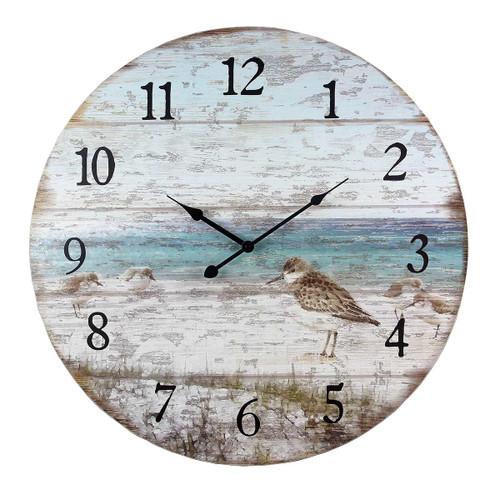 Sand Piper Beach Wall Clock