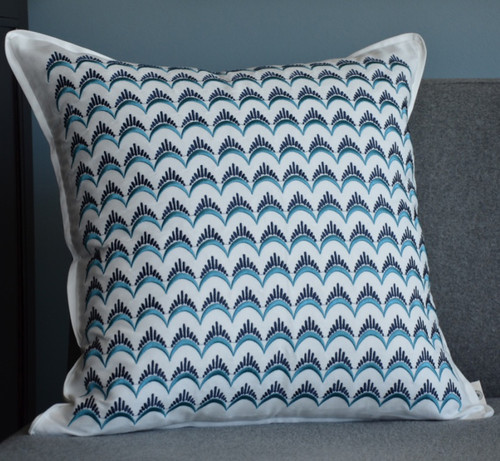 Santa Monica Square Pillow - Eyelash Embroidery
