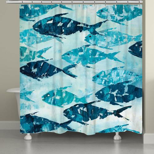 School of Fish Shower Curtain