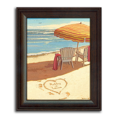 Dreamland Beach Personalized Print