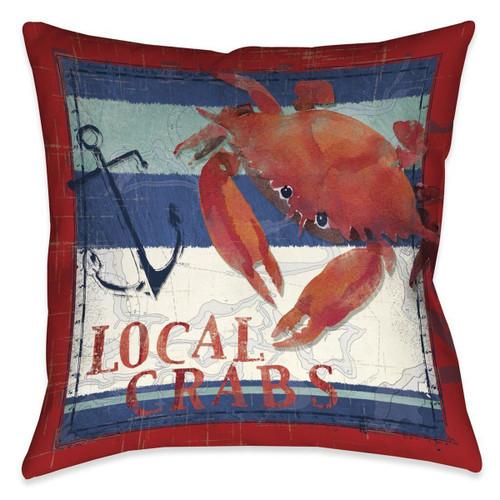 Sea Crab 18 x 18 Indoor Pillow