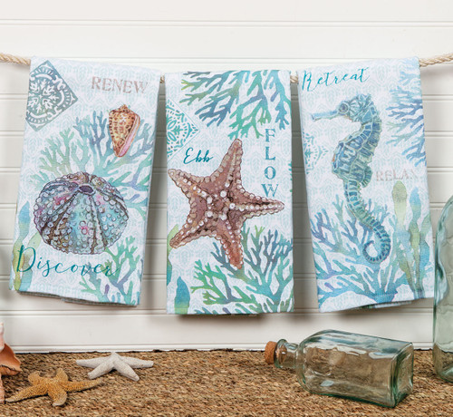 Sea Inspiration Terry Towels - Set of 6 - BACKORDERED UNTIL 9/10/2021