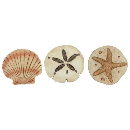 Sea Life Stepping Stones - Set of 3 - BACKORDERED UNTIL 11/19/2021