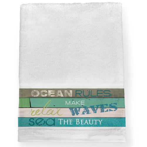Sea Rules Bath Towel