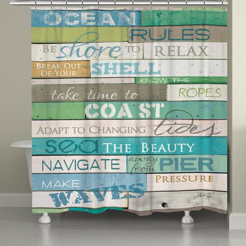 Sea Rules Shower Curtain