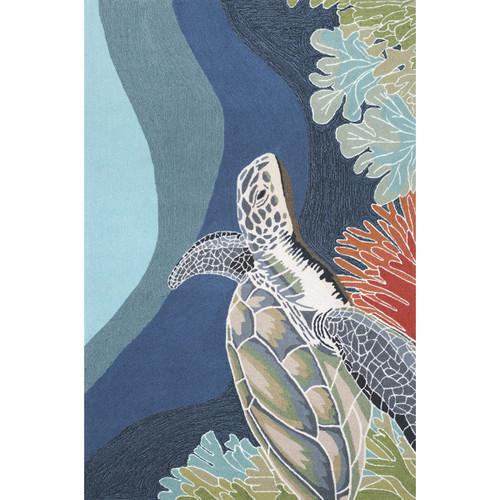Deep Swim Turtle Indoor/Outdoor Rug Collection