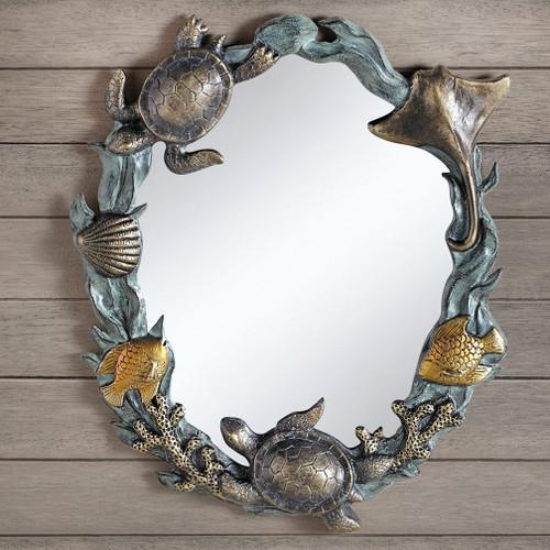Sea Turtle Cove Wall Mirror