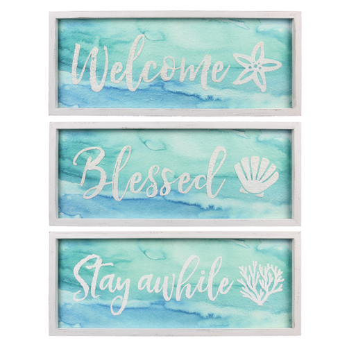 Sea Wishes Framed Wall Art - Set of 3