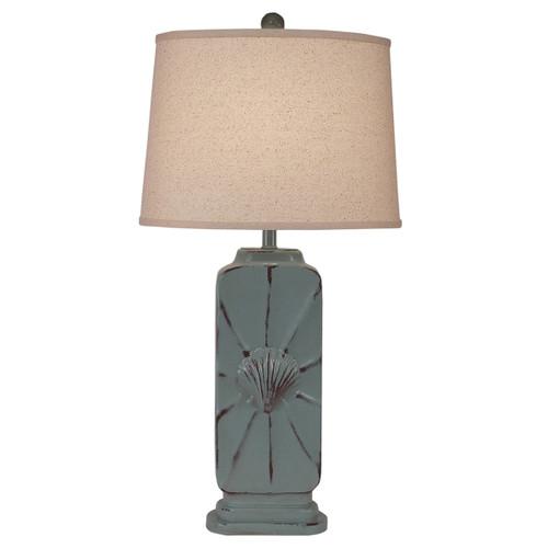 Seafoam Shell Table Lamp