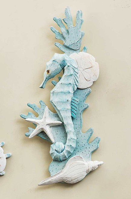 Seahorse & Shell Wall Art - Left Facing