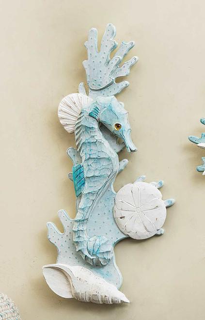 Seahorse & Shell Wall Art - Right Facing