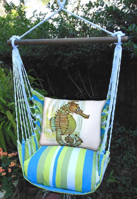 Seahorse Beach Boulevard Stripe Swing Set
