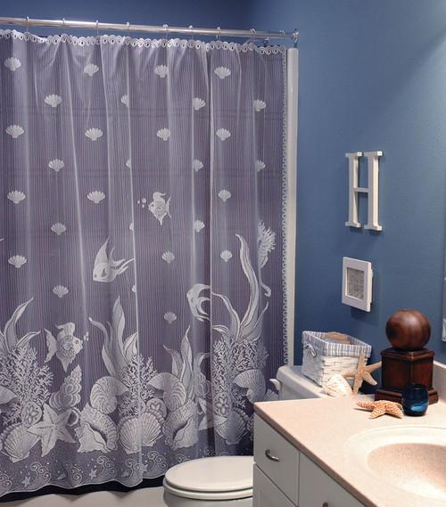 Seascape Lace Shower Curtain