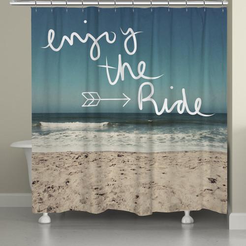 Seascape Mantra Shower Curtain
